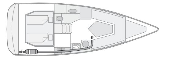 Судовой комплект Webasto Air Top 2000 STC с одним дефлектором
